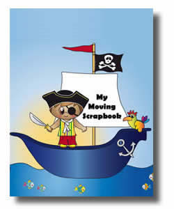 Childrens Moving scrapbook for boys